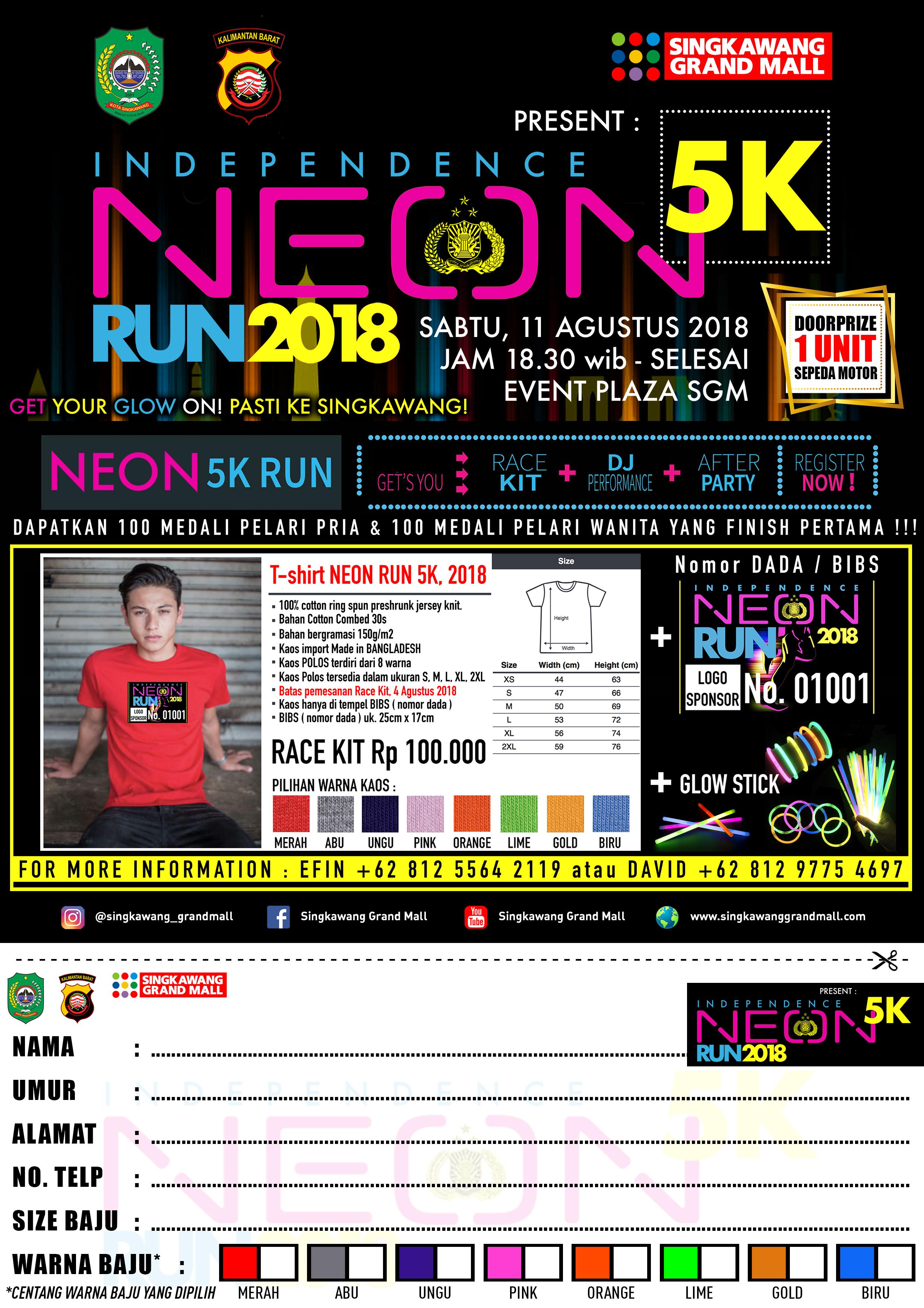 Formulir Neon Run 2018