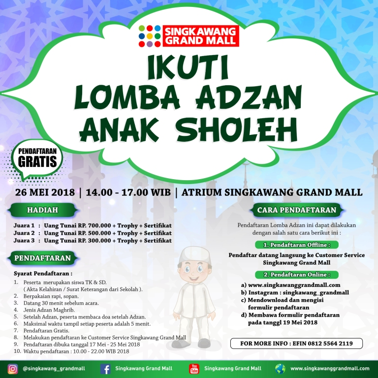 Lomba Azan Singkawang Grand Mall