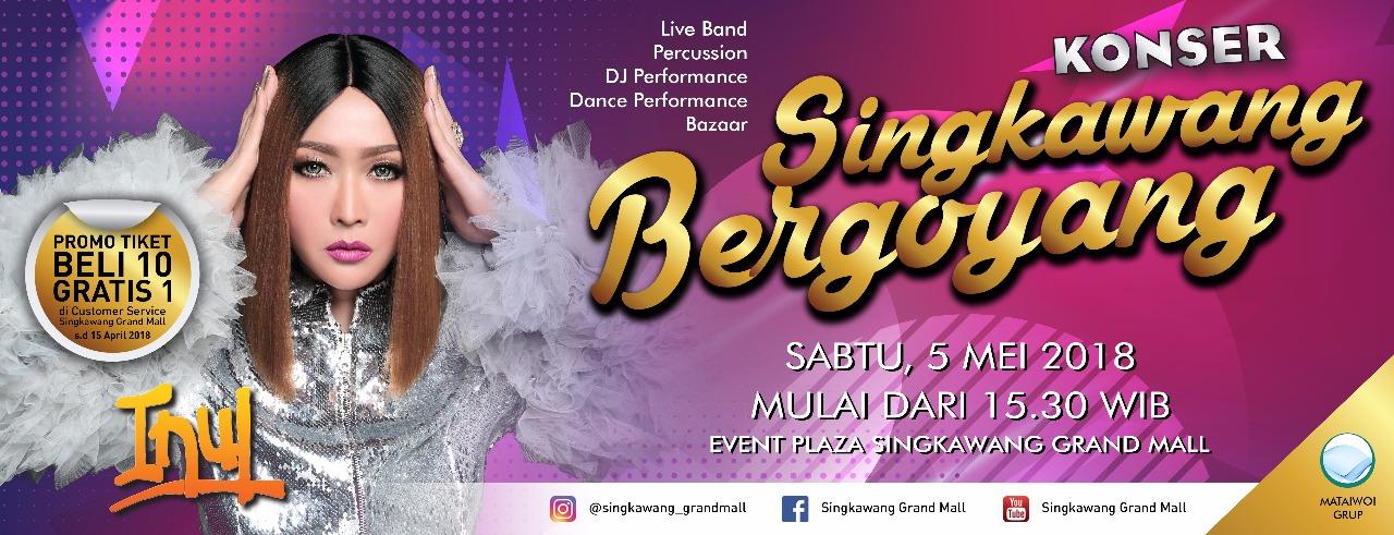 Konser Dangdut Inul Singkawang Grand Mall 2018